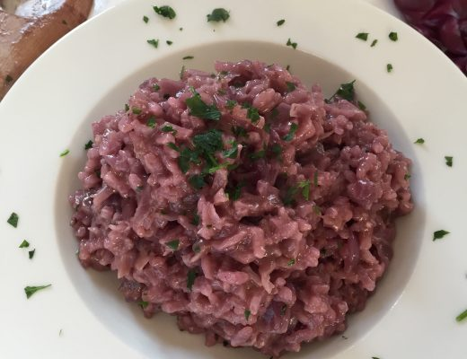 red cabbage risotto