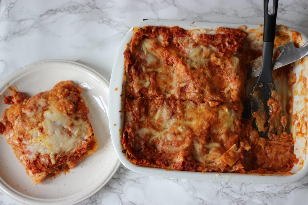 red lentils lasagna