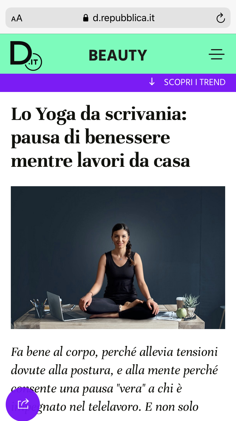 yoga da scrivania rossella forastiero